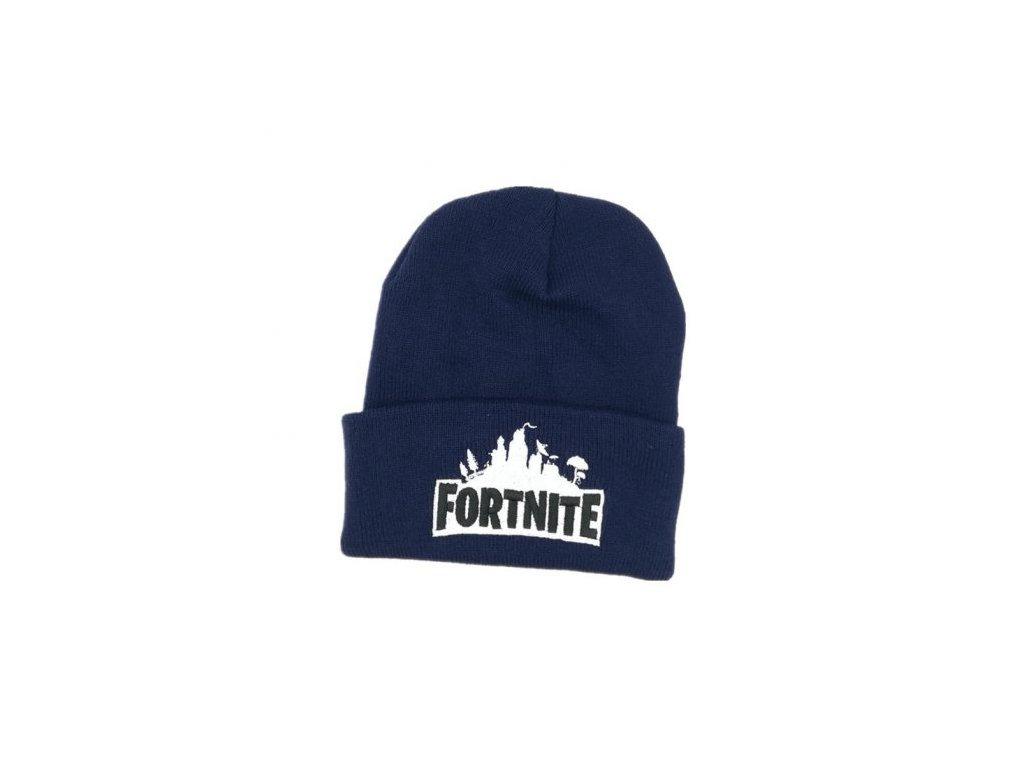 Fortnite zimní čepice modrá