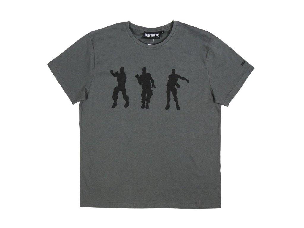 Fortnite triko Dancing šedé pánské