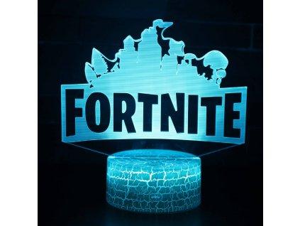 Fortnite 3D noční světlo Logo