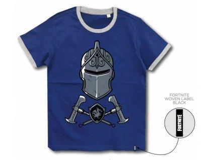 Fortnite tričko Black Knight modré dětské