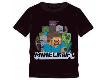 Minecraft tričko Steve černé dětské