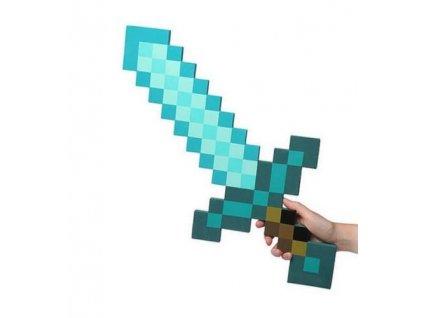 Minecraft diamantový meč (pěnový)
