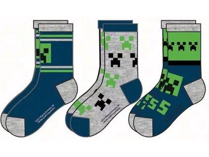 Minecraft ponožky Creeper dětské