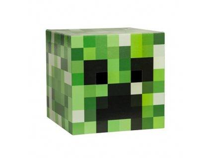 Lepenková hlava Minecraft - Creeper