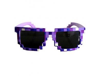 Kostkové sluneční brýle fialové
