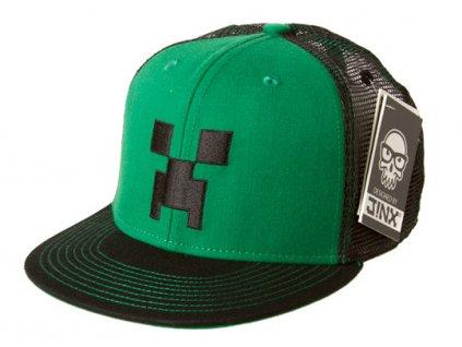 Minecraft Creeper snapback zelený