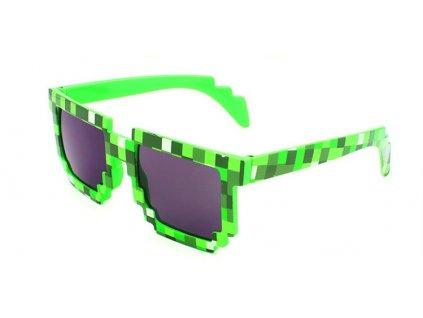 Kostkové sluneční brýle zelené