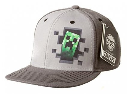 Minecraft Creeper Inside snapback zelený