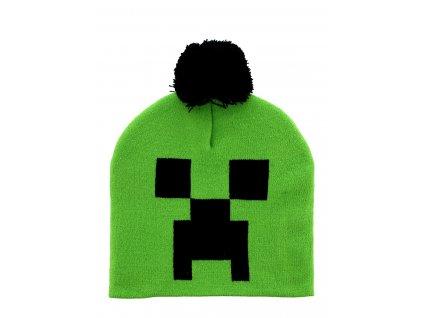 Minecraft Creeper zimní čepice