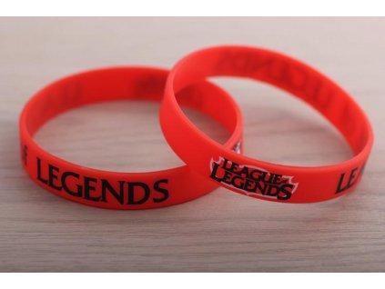 League of Legends - náramek logo červený