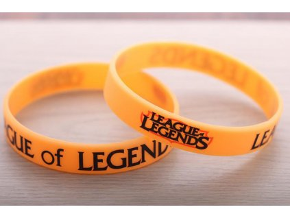 League of Legends - náramek logo oranžový