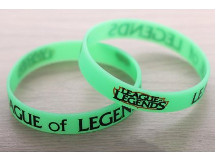 League of Legends - náramek logo zelený