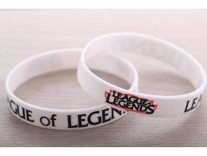 League of Legends - náramek logo bílý