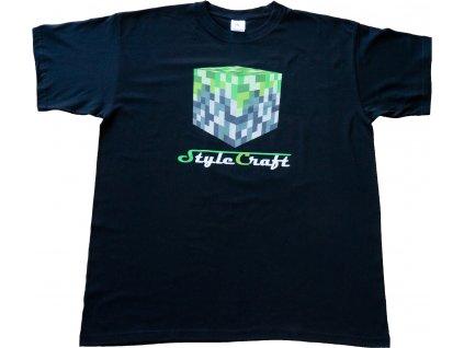 StyleCraft tričko černé - kostka