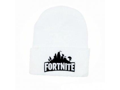 Fortnite zimní čepice bílá