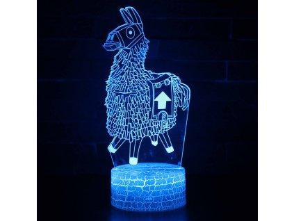 Fortnite 3D noční světlo Lama