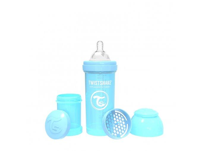 376 kojenecka lahev anti colic 260ml pastelove modra