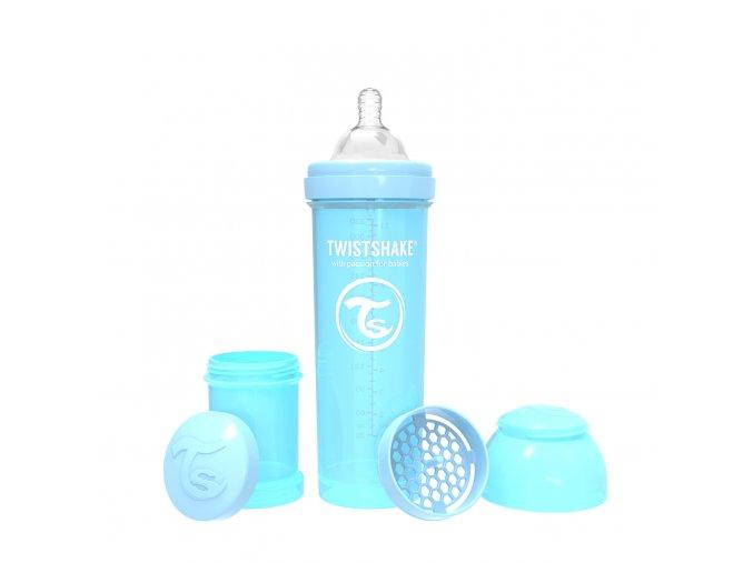 400 kojenecka lahev anti colic 330ml pastelove modra