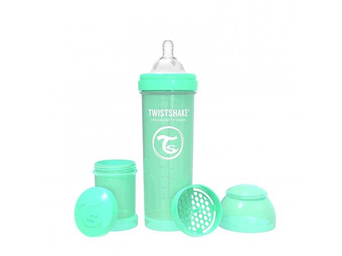 403 kojenecka lahev anti colic 330ml pastelove zelena