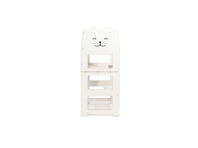 Učící věž multifunkční kočka bílá by Craffox 7