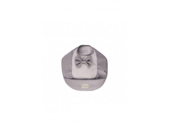 695 bib grey bow