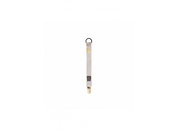 549 pacifier clip grey golden collection