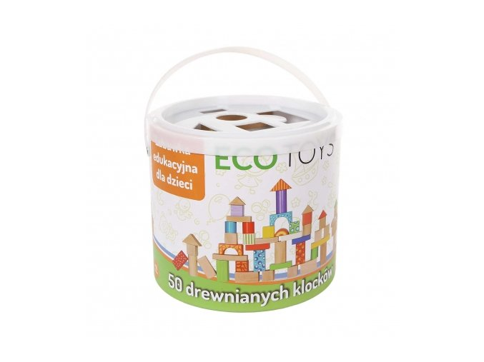 79825 125768 drevene kostky v kybliku eco toys 50 kusu