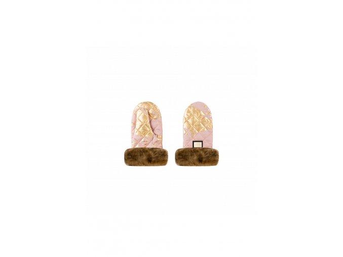 606 handmuff pink golden