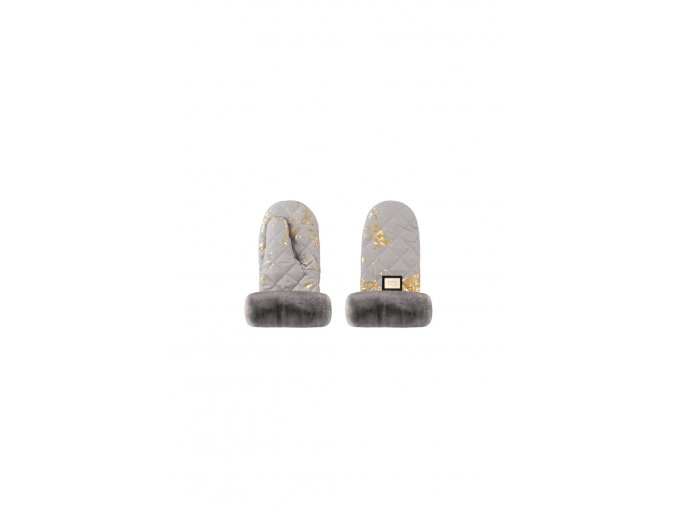 609 handmuff grey golden
