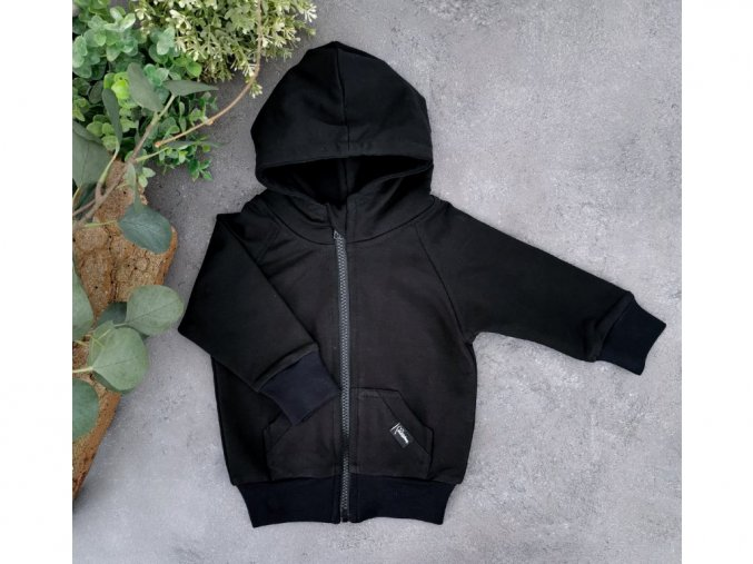 18149 mikina zipper black