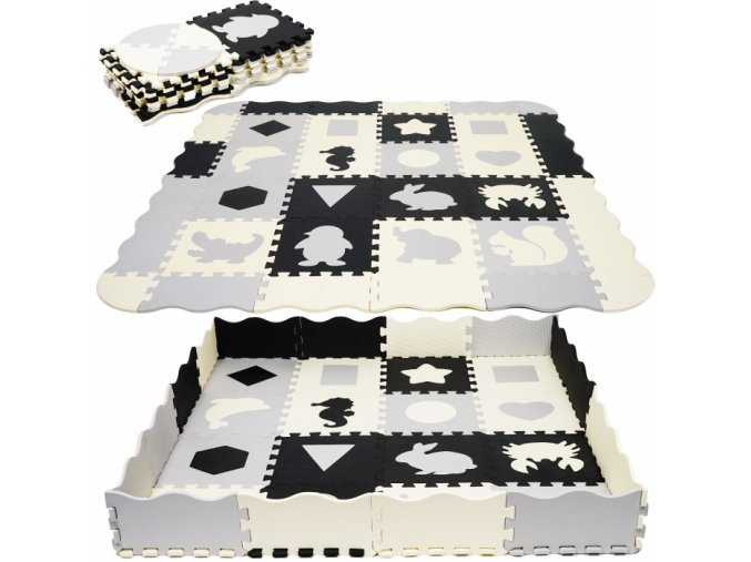 114930 195819 tulimi detske penove puzzle 143x143cm hraci deka podlozka na zem