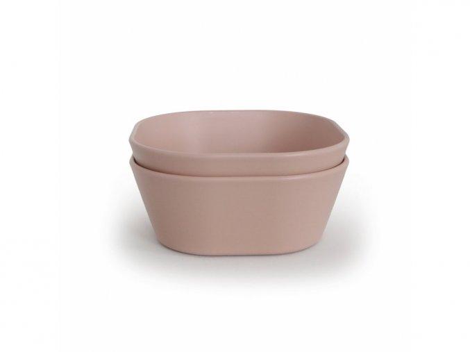 58016 2 mushie miska hranata 2 ks blush