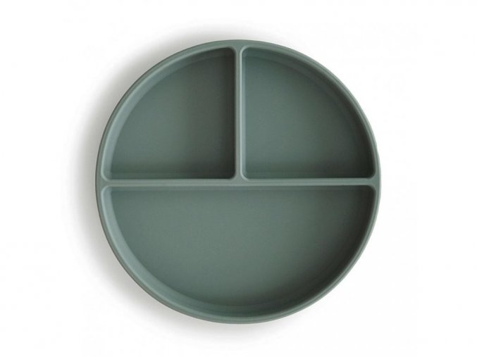 72411 8 mushie silikonovy talir s prisavkou cambridge blue