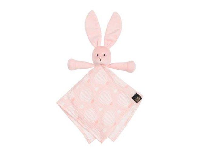 Muchláček zajíček Snuggle Pink Sky