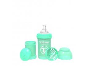 358 kojenecka lahev anti colic 180ml pastelove zelena