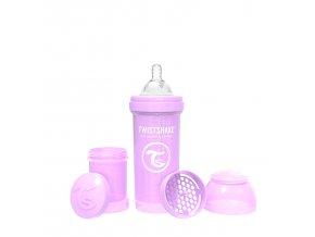 382 kojenecka lahev anti colic 260ml pastelove fialova