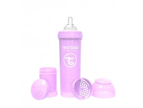 406 kojenecka lahev anti colic 330ml pastelove fialova