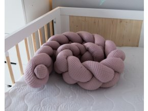120836 206416 baby nellys mantinel pleteny cop vafel magnolie 320 x 16 cm