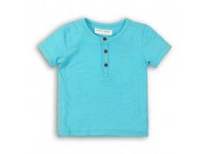 Tričko chlapecké s krátkým rukávem, Minoti, tyrkysová