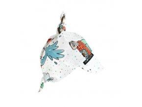 Bavlněný šátek na hlavu Ježek Povolání