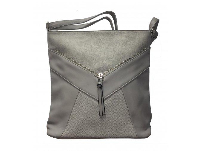 Crossbody kabelka Tapple H1418 světle šedá