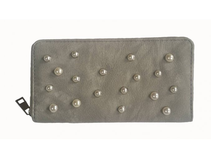 Dámská peněženka perla šedá