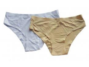 Dámské kalhotky hladké 2 pack mix I.