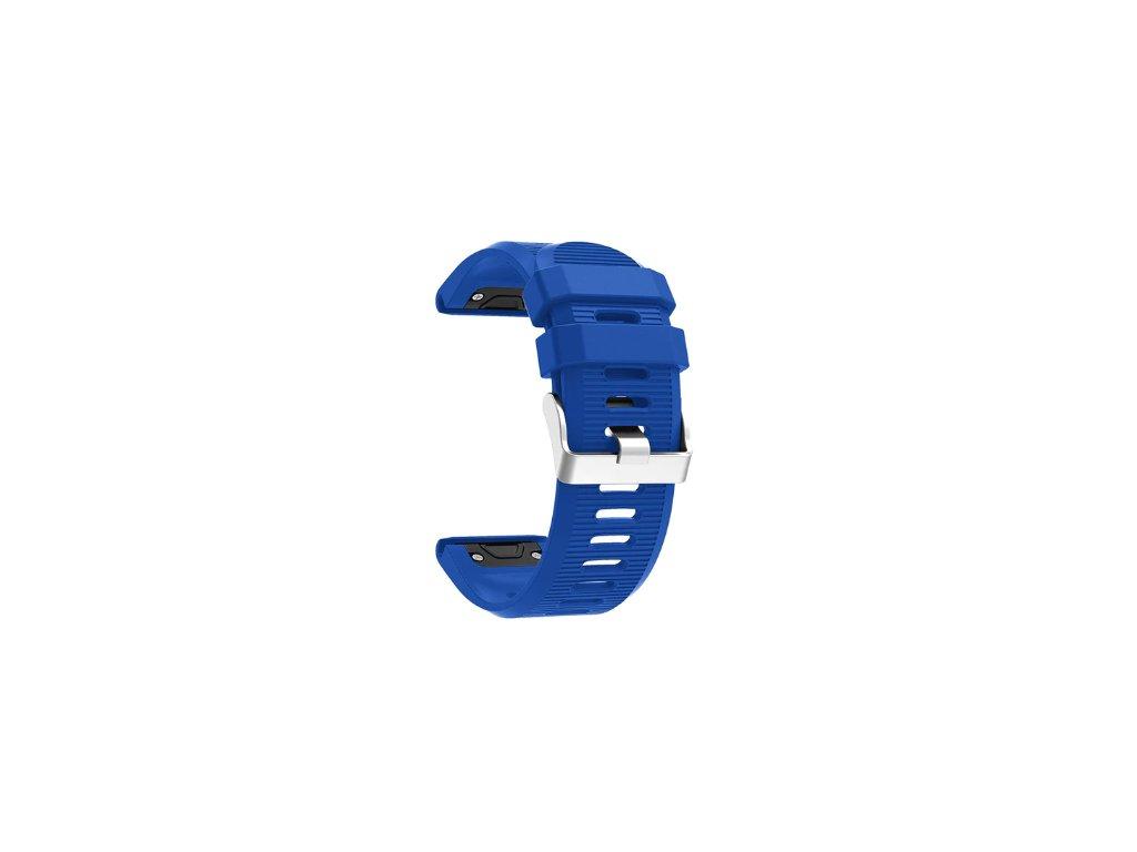 Silikonový gumový řemínek pro Garmin Fenix 26 mm soft tmavě modrý EASYFIT/QUICKFIT
