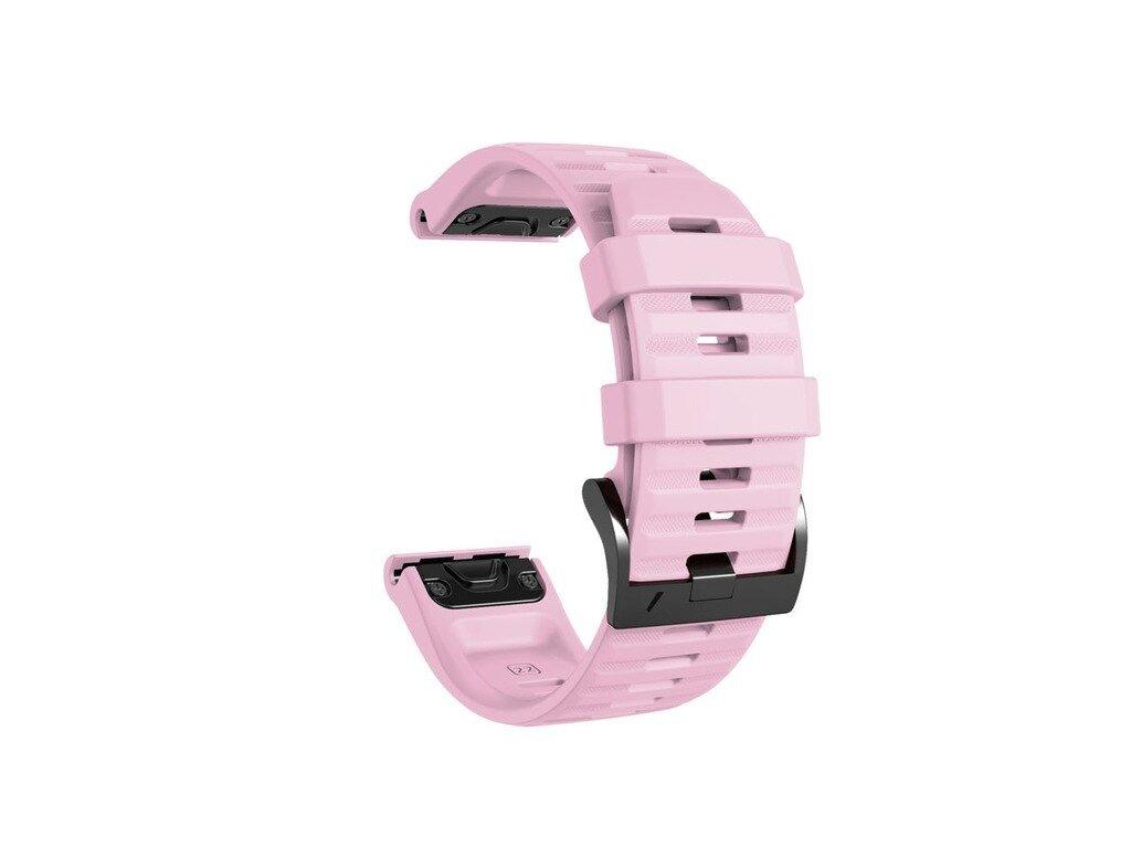 Pink 26 22 mm watch band for garmin fenix 5 x 5 variants 13