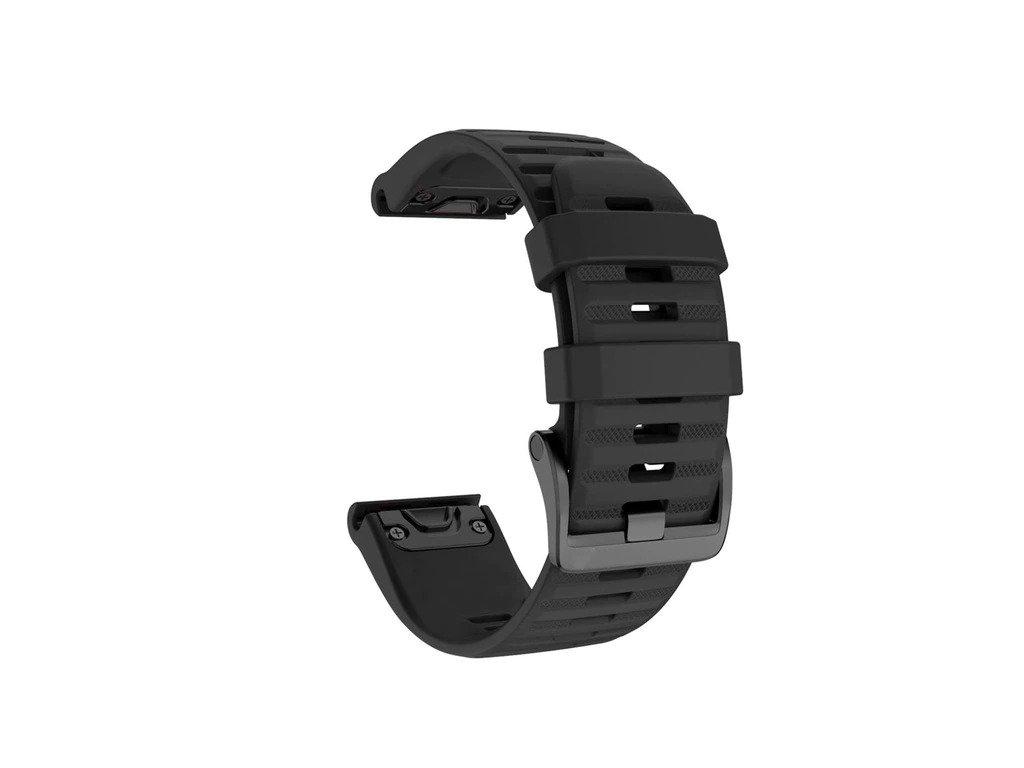 Black 26 20 22 mm sport silicone watchband wris variants 5