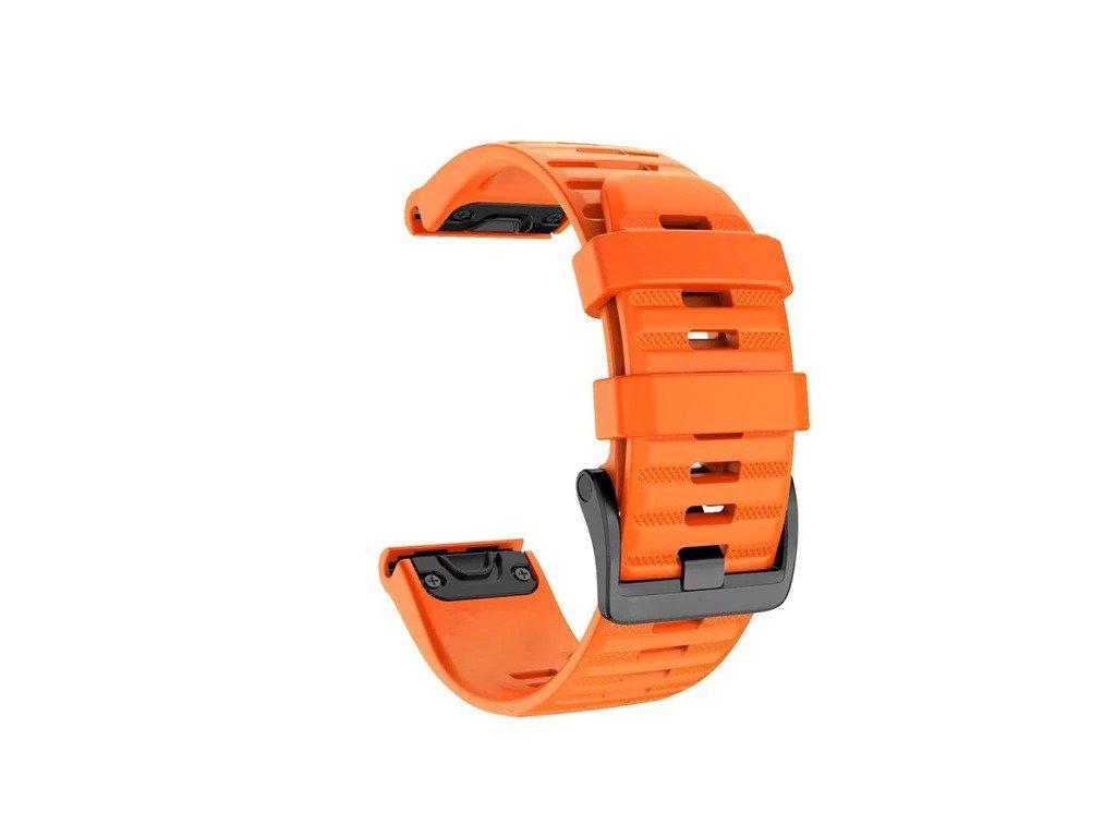 Orange 26 20 22 mm sport silicone watchband wris variants 13
