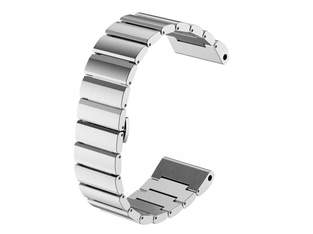Ocelový kovový řemínek pro Garmin Fenix 26 mm stříbrný