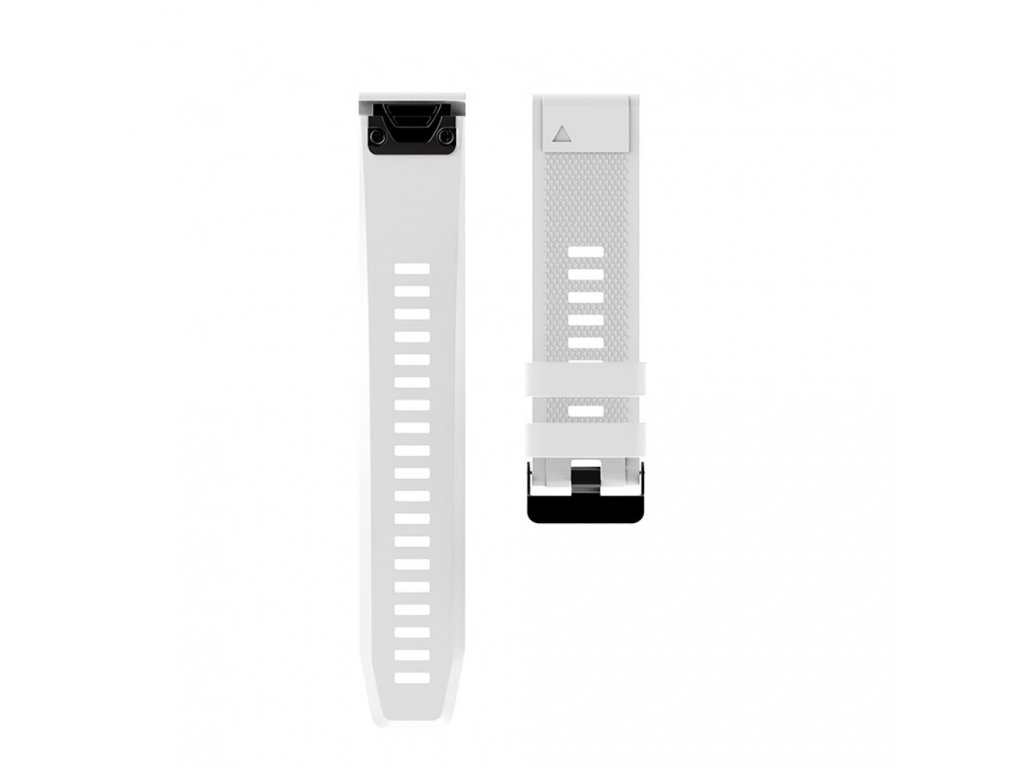 12 White sheng one soft silicone strap for garmin variants 0