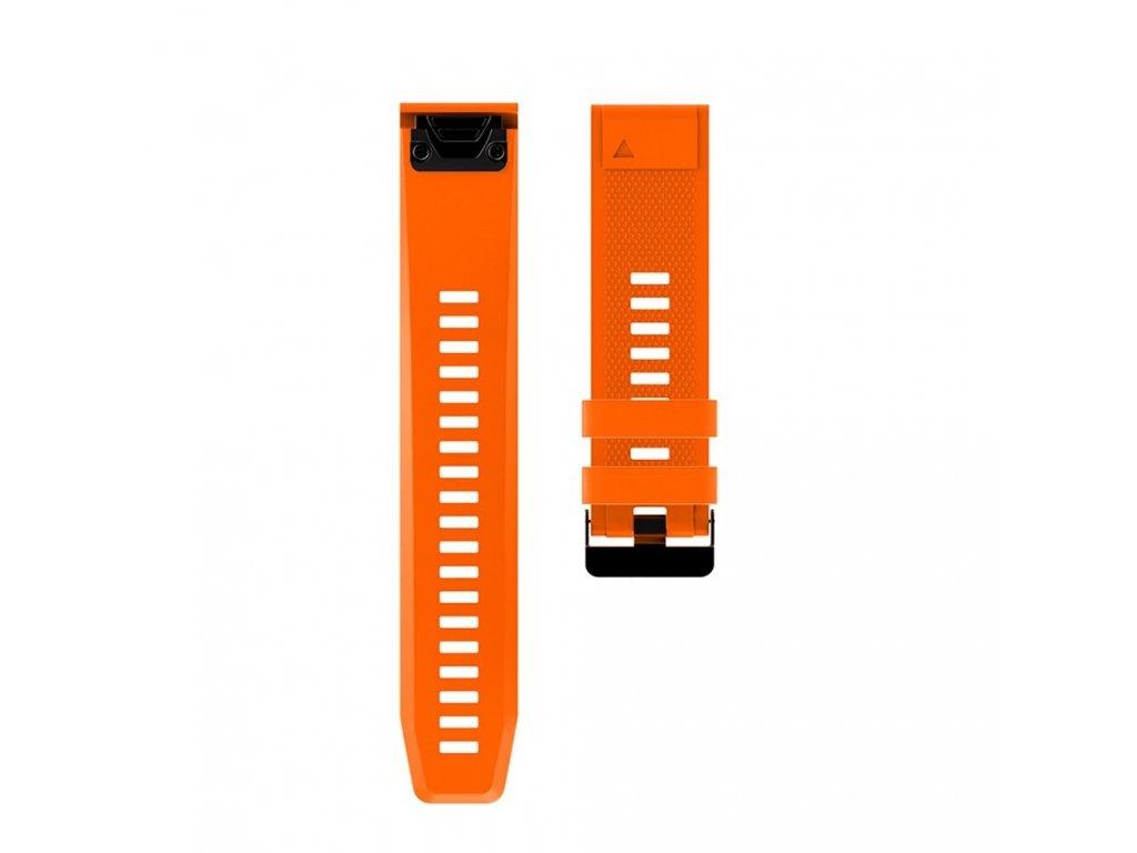 7 Orange sheng one soft silicone strap for garmin variants 13